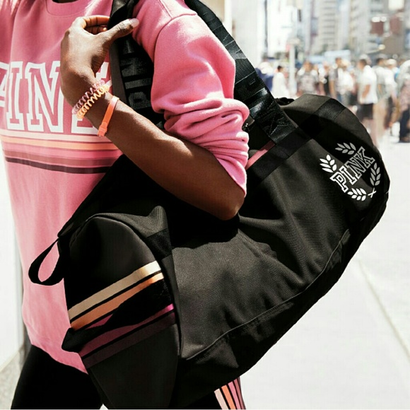 c3e59b37dbe9 SALE Pure Black Gradient Duffel. M 5805b0e5bf6df53e5c0208d7. Other Bags you  may like. Vs pink tote
