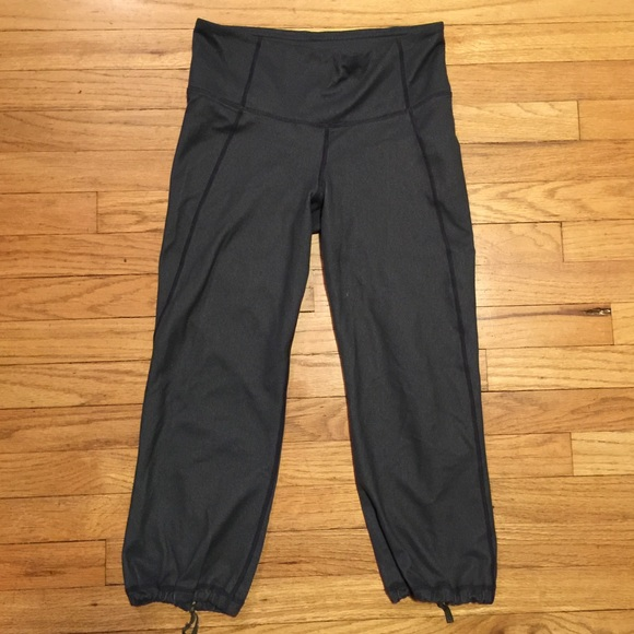 72% off lululemon athletica Pants - Lululemon gray capri workout ...