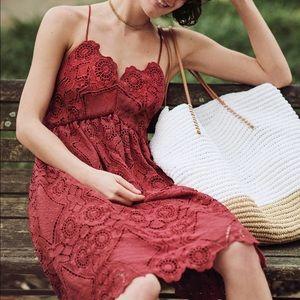 Last 1! Anthro Maeve Lace Babydoll Dress