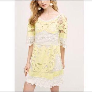 Anthropologie Cotton Lace Dress