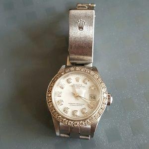 Rolex Accessories - AUTHENTIC WOMANS ROLEX DIAMOND WATCH