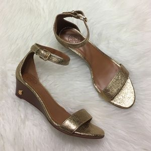 Tory Burch Metallic Wedge Sandals