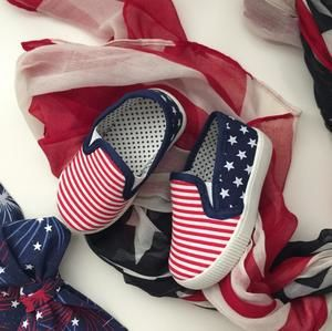 Patriotic Stars & Stripes Sneakers