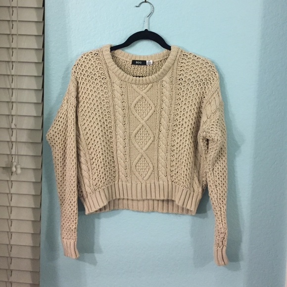 Urban Outfitters Sweaters Cable Knit Cropped Sweater Poshmark