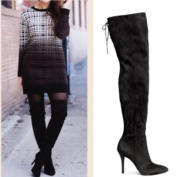 H&M Knee-high leather boots Buy Cheap Many Kinds Of Od4JLR