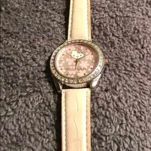 Hello Kitty Accessories - Real Hello Kitty wristwatch with white band