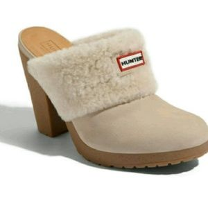 Hunter Boots Shoes - SALE  Hunter Shearling Clogs