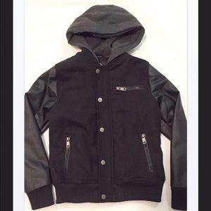 Urban Republic Other - Boy's Urban Republic Faux Leather Hoodie Jacket, L