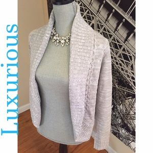 Luxurious, Light Gray, Cardigan by Faded Glory-NWT