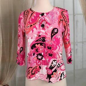 Designers Originals Sweaters - Designers Originals Pink 3 Button Cardigan