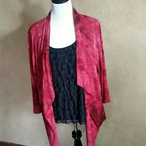 Notations Tops - Notations Cami/Jacket attached set