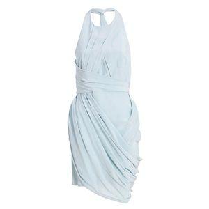 Zimmermann Pale Blue Grecian Back Drape Dress