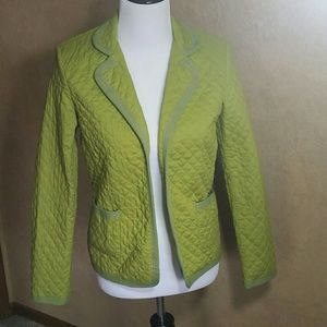 Evan Picone Jackets & Blazers - Evan-Picone Green Quilted Jacket