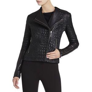 BCBGMaxAzria Jackets & Blazers - BCBG Black Olivia Textured Moto Jacket