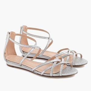 J Crew Silver Sandals - 7