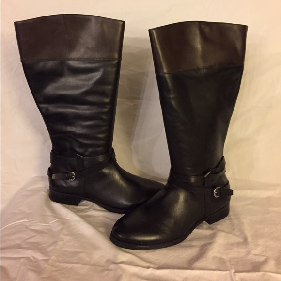 AUDREY BROOKE Black Riding Boot Wide Calf Size 11