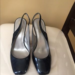 Me Too Blue Patent Leather Slingback Pumps 8.5M