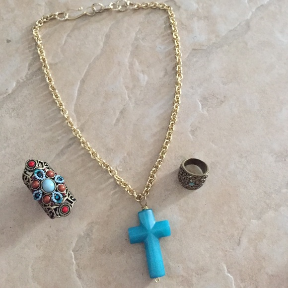 Jewelry homemade necklace with rings bundle poshmark homemade necklace with rings bundle aloadofball Gallery