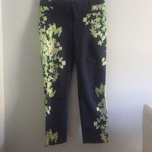 Anthropologie Cartonnier print crop pants size 6