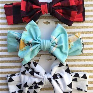 Accessories - Bow Baby Toddler Headband Turban  Fleece Girl