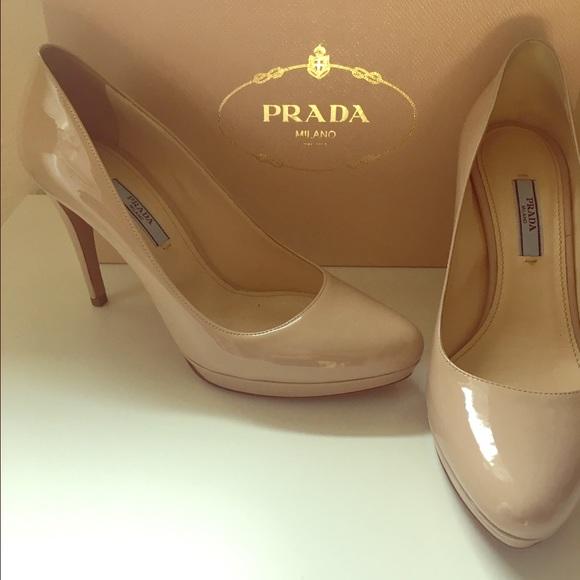 565977365d0f Prada Shoes | Nude Heels Vernice Basic Cipria Size 38 | Poshmark