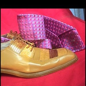 Ike Behar Other - Pink & Purple Men's Necktie by Ike Behar New York