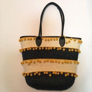 Topshop - Topshop striped pineapple beach bag from Sarah's closet ...