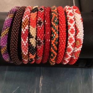 Jewelry - Bracelet rolls on bead made in Nepal gift