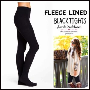 Boutique Accessories - ❗1-HOUR SALE❗Black FLEECE LINED TIGHTS