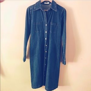 Vintage Eddie Bauer Denim Shirtdress