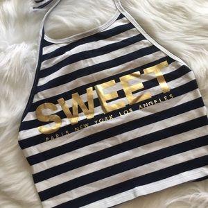 Sweet • Striped Halter Top
