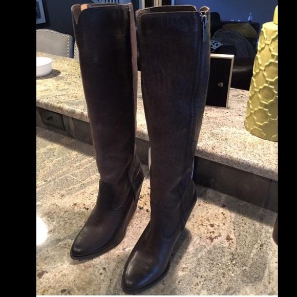 4b7bd266b95 Frye Shoes - Frye Cece Tall Wedge Boots size 7.5