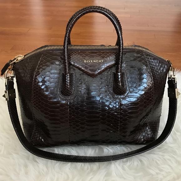 c90449776bb Givenchy Handbags - Rare PYTHON Givenchy Antigona