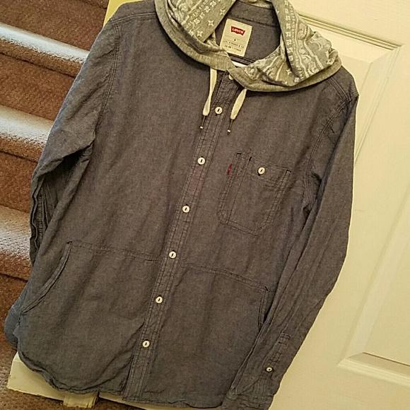 Hooded Button Shirt Poshmark Levi's Down ShirtsLevis zGqSMLUVp