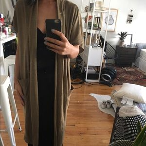 Zara knitted open cardigan NWT