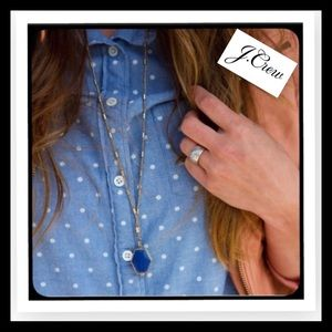 J. Crew Tops - J. Crew Polka Dot Chambray Button Down