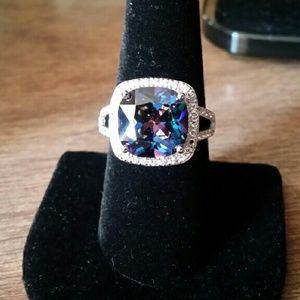 Glamour & Co. Jewelry - Blue Mystic & White Sapphire Ring.............