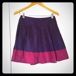 Purple and pink pleated skirt H&M size 6