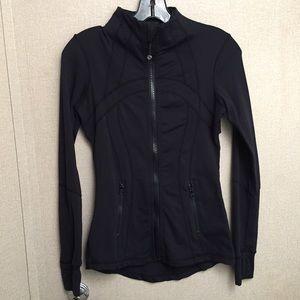 Jackets & Blazers - Lululemon-Logo Black Running Front-zip Jacket Sz 4