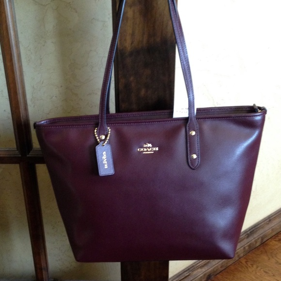 f157134234 NWT Coach Crossgrain Leather City Zip Top Tote