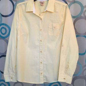 Covington Tops - Covington top yellow  Large long sleeve