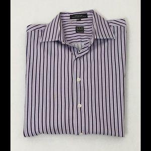 Ike Behar Other - Ike Behar purple striped dress shirt LIKE NEW!