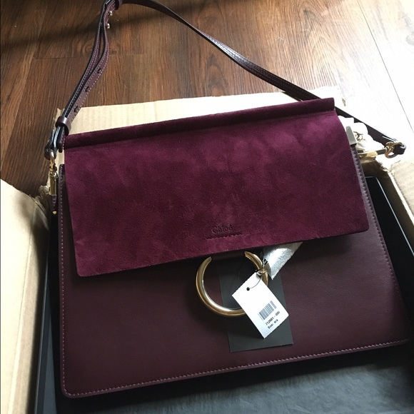 Chloe medium Faye shoulder bag DARK PURPLE cb2181626b