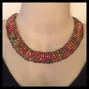 Beads for Life Jewelry - AFRICAN MADE Beaded Bib Choker Necklace