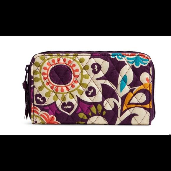 Vera Bradley Handbags - Vera Bradley Accordion Wallet Plum Crazy NWT