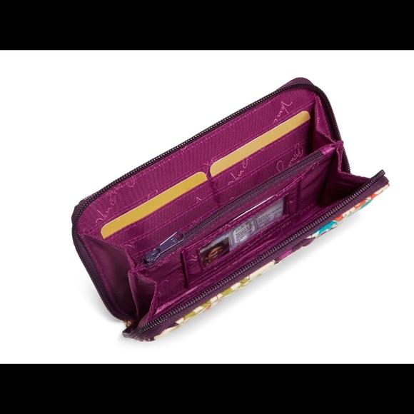 Vera Bradley Bags - Vera Bradley Accordion Wallet Plum Crazy NWT