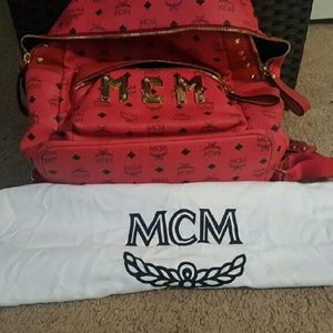 MCM Handbags - MCM STUDDED LEATHER BACK PACK