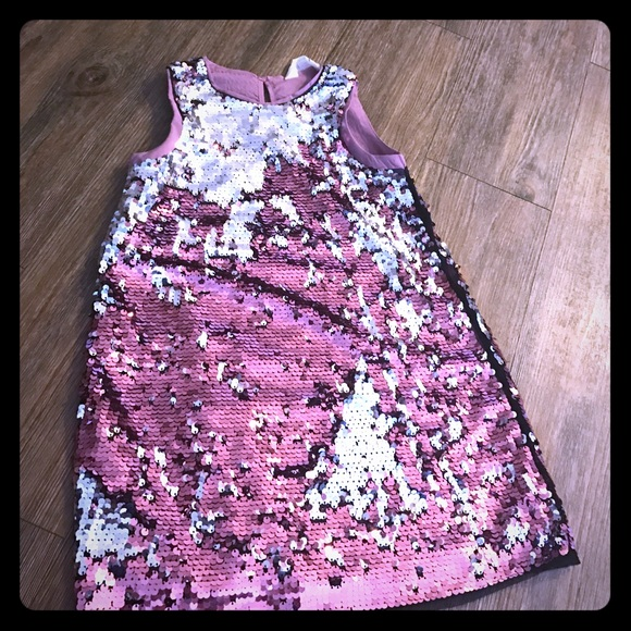 b5e79a91272 H M Other - Kids H M silver and pink sequin dress girls