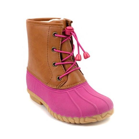 Girls Rain Snow Duck Boots