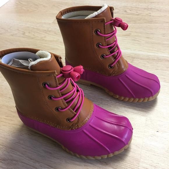 Olivia Miller - 🎉HP 🎉 🎈LAST ONE 🎈Girls DUCK BOOTS Pink/Tan.NIB ...